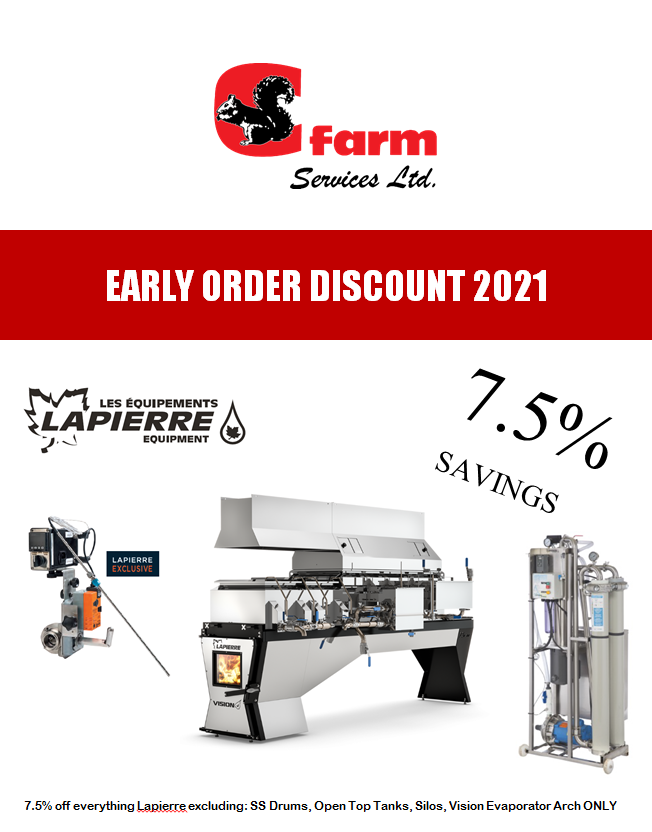 Early Order Discount 2021